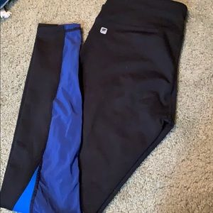 Blue and black fabletic leggings